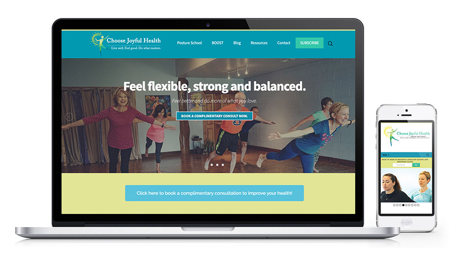 Choose Joyful Health - Wellness & Posture Specialist Website