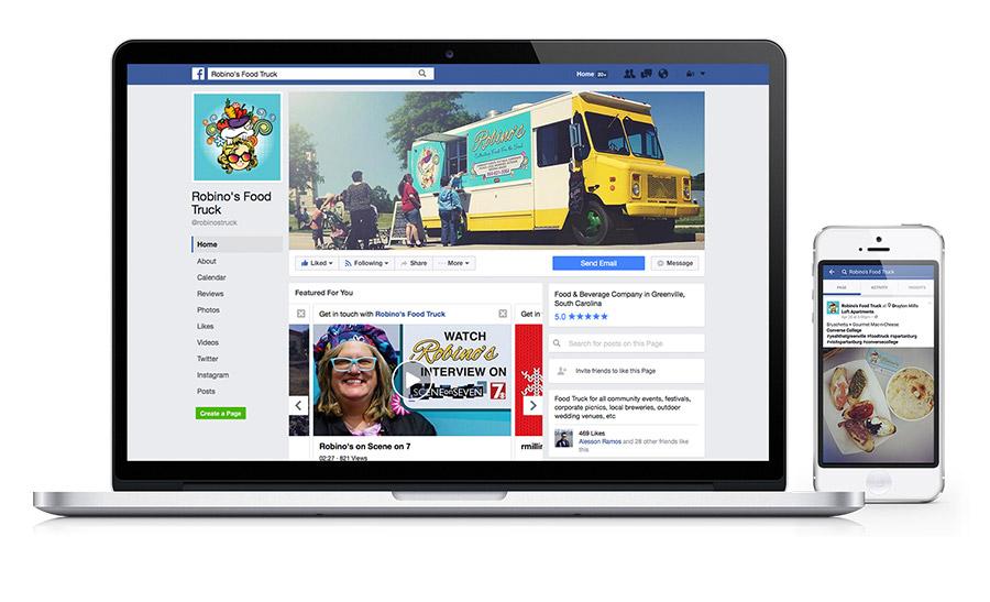Robinos Food Truck Social Media