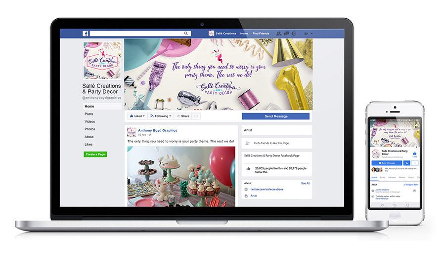 Sallé Creations & Party Decor Website