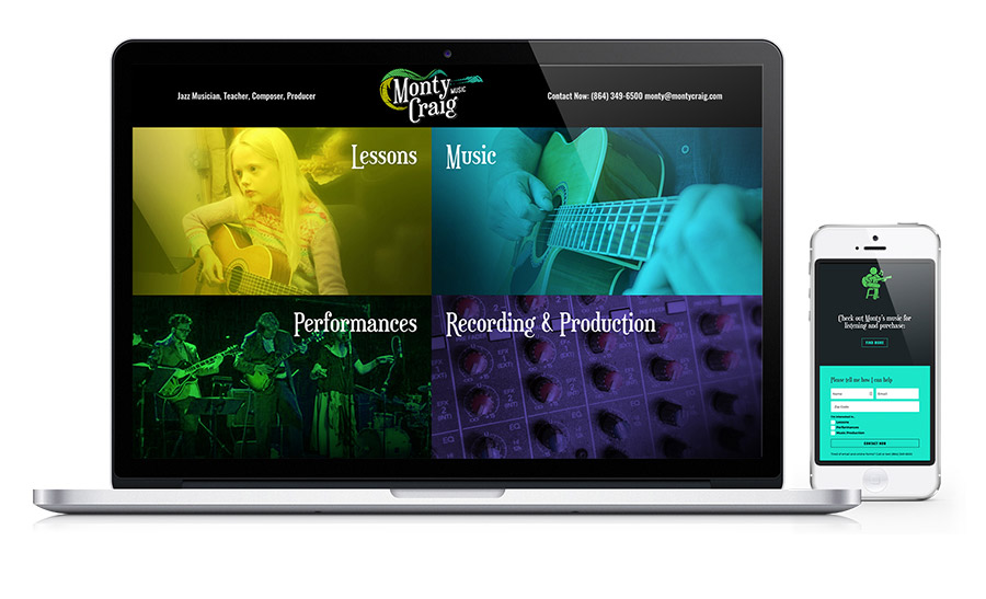 Monty Craig - Musician website in Greenville SC