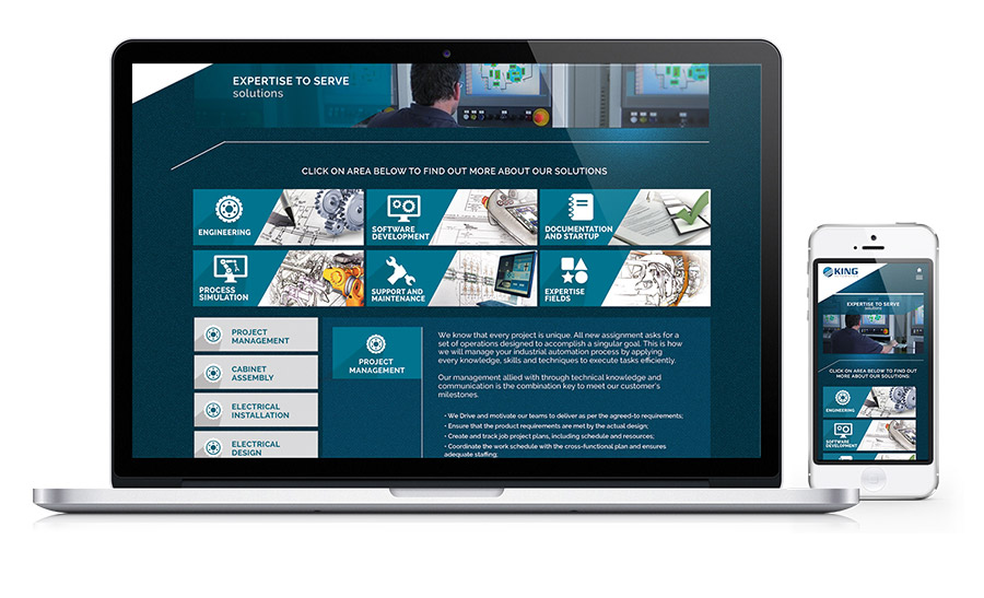 King Automation - Controls & Engineering Company Website
