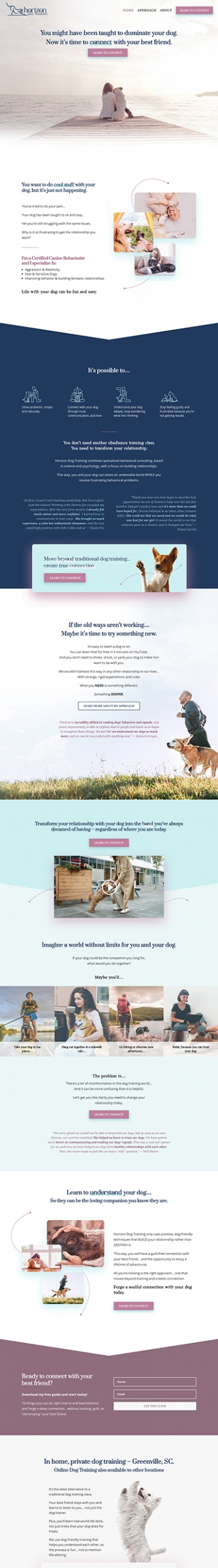 Horizon Dog Training Website
