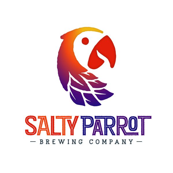 salty parrot brewing company logo