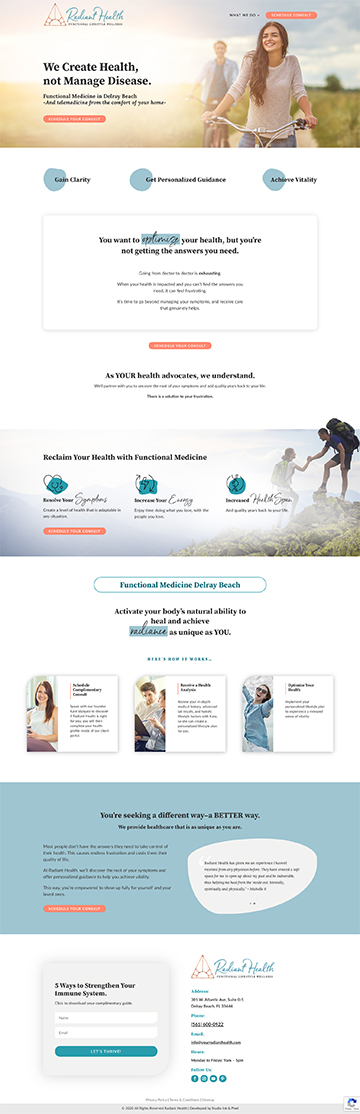 radiant health website