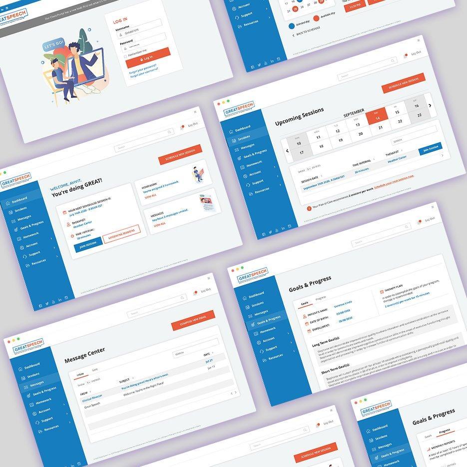 UI/UX Great Speech Client Portal