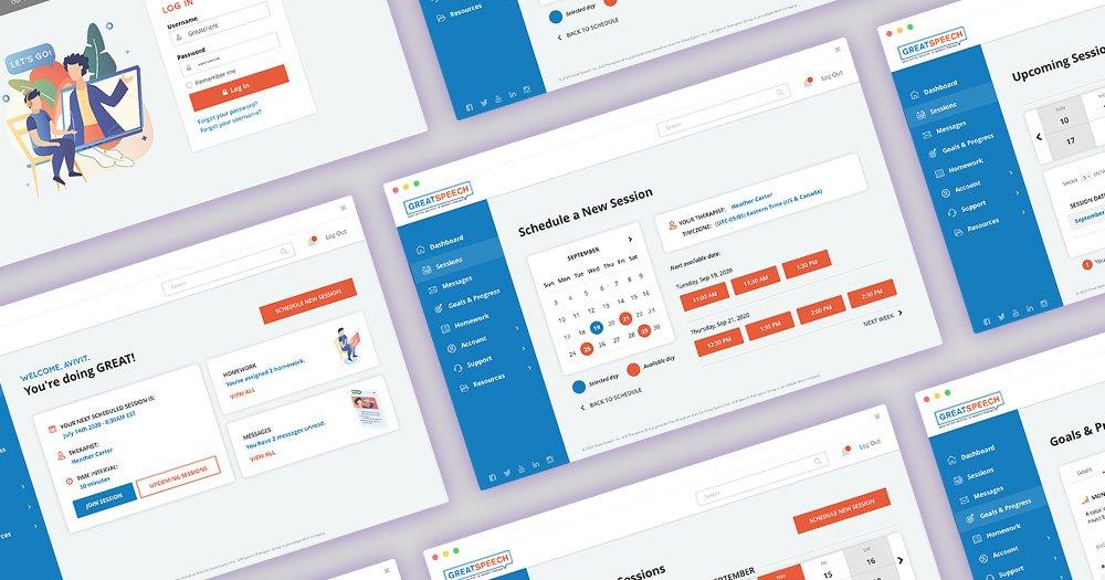 UI/UX Great Speech Client & Therapist Portal