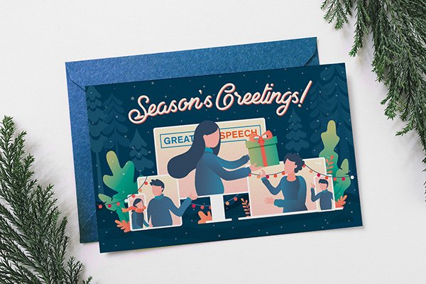 great speech holiday cards